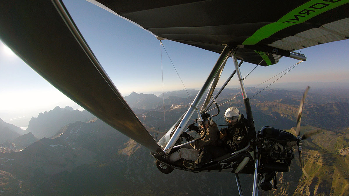 Hang Gliding over the Arizona Desert
